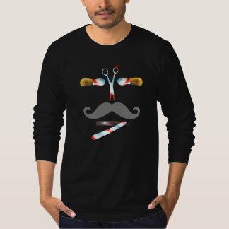 ヴィンテージの理容師のはさみの顔のTシャツ Tシャツ