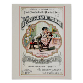 ヴィンテージの理髪店広告 ポスター