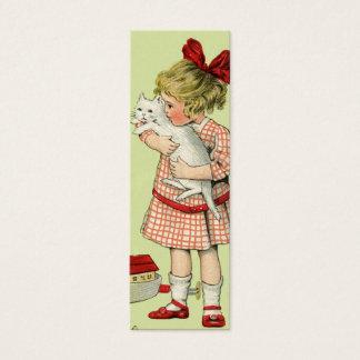 ヴィンテージの甘い女の子のギフトのラベルか愛ノート スキニー名刺