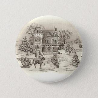 ヴィンテージの田舎円形ボタン 5.7CM 丸型バッジ