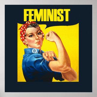 ヴィンテージの男女同権主義のRosieのリベッター ポスター