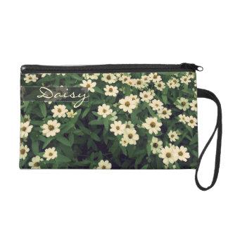 ヴィンテージの白い花のフラワー・ガールのリストレットのバッグ リストレット