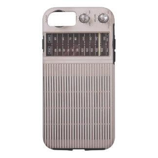 ヴィンテージの白およびブラウンの金属のラジオ iPhone 8/7ケース
