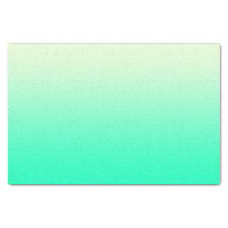 ヴィンテージの白くグラデーションな勾配への粋なティール(緑がかった色) 薄葉紙