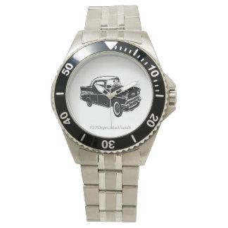 ヴィンテージの白の1957年のポンティアクの黒 腕時計