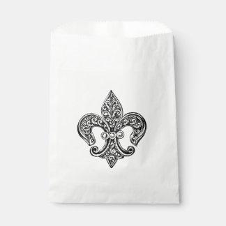 ヴィンテージの白黒レースのような(紋章の)フラ・ダ・リ フェイバーバッグ