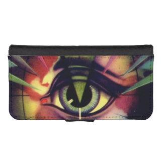 ヴィンテージの目の眼球のHypnotistの芸術 iPhoneSE/5/5sウォレットケース