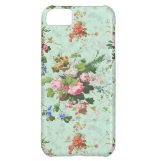 ヴィンテージの真新しいぼろぼろの花のシックなバラのバラは開花します iPhone5Cケース