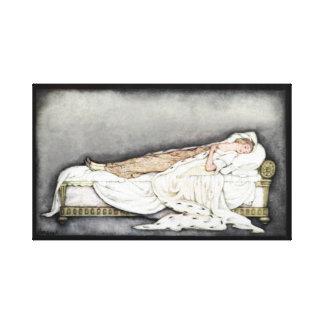 ヴィンテージの眠れる森の美女の新古典主義のスケッチのキャンバス キャンバスプリント