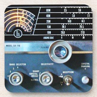 ヴィンテージの短波の受信機 コースター