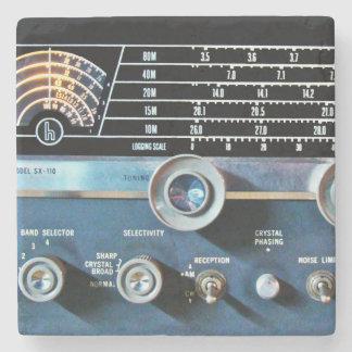 ヴィンテージの短波の受信機 ストーンコースター