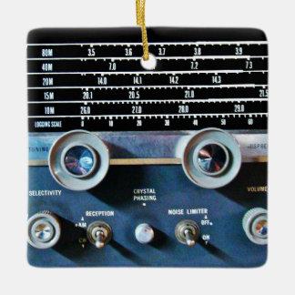 ヴィンテージの短波の受信機 セラミックオーナメント