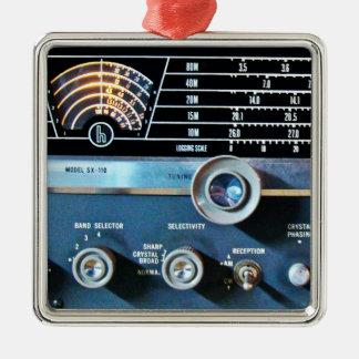 ヴィンテージの短波の受信機 メタルオーナメント