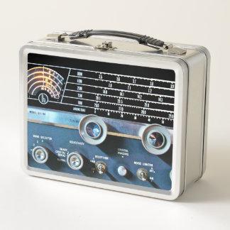 ヴィンテージの短波の受信機 メタルランチボックス