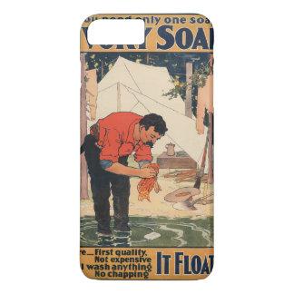 ヴィンテージの石鹸広告箱 iPhone 7 PLUSケース