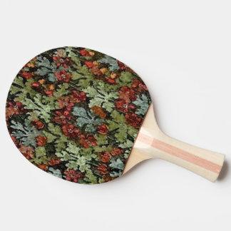 ヴィンテージの秋の花柄 卓球ラケット
