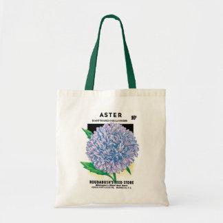 ヴィンテージの種の包みの芸術、紫色の星状体の花 トートバッグ