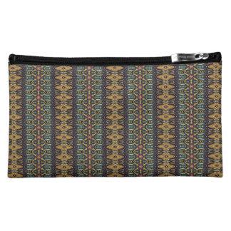 ヴィンテージの種族のアズテック派のパターン コスメティックバッグ