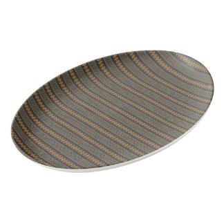 ヴィンテージの種族のアズテック派のパターン 磁器大皿