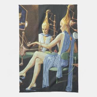 ヴィンテージの空想科学小説の美容院のスパのマニキュア キッチンタオル