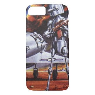 ヴィンテージの空想科学小説の軍のロボット兵士 iPhone 8/7ケース