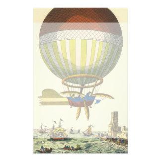ヴィンテージの空想科学小説のSteampunkの熱気の気球 便箋