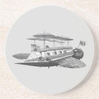 ヴィンテージの空想科学小説のSteampunkの飛行船食 コースター