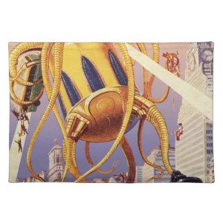 ヴィンテージの空想科学小説外国戦争の侵入のタコ ランチョンマット