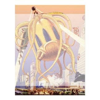 ヴィンテージの空想科学小説外国戦争の侵入のタコ レターヘッド