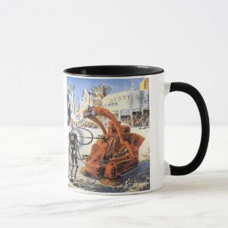 ヴィンテージの空想科学小説未来派都市エイリアン戦争 マグカップ
