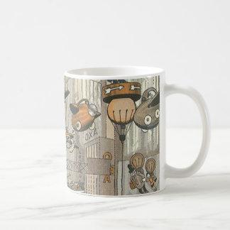 ヴィンテージの空想科学小説都市パリの蒸気のパンク コーヒーマグカップ