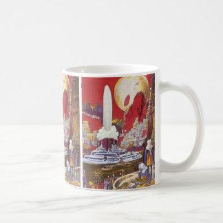 ヴィンテージの空想科学小説、アトランティス無くなった市 コーヒーマグカップ