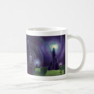 ヴィンテージの空想科学小説、サイファイの宇宙の惑星 コーヒーマグカップ