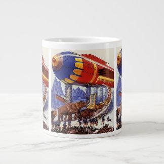 ヴィンテージの空想科学小説、ノアの箱舟の野生動物 ジャンボコーヒーマグカップ