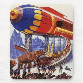 ヴィンテージの空想科学小説、ノアの箱舟の野生動物 マウスパッド