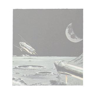 ヴィンテージの空想科学小説、ロケットは月の惑星を出荷します ノートパッド