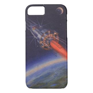ヴィンテージの空想科学小説、地球上のサイファイロケット iPhone 8/7ケース
