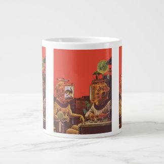 ヴィンテージの空想科学小説、外国の蒸気のパンクのヘルメット ジャンボコーヒーマグカップ
