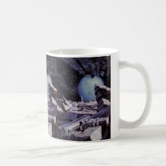 ヴィンテージの空想科学小説、宇宙の月のエイリアン コーヒーマグカップ