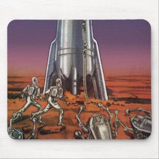 ヴィンテージの空想科学小説、宇宙飛行士のカブトムシのエイリアン マウスパッド