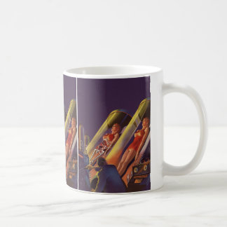 ヴィンテージの空想科学小説、実験室のサイファイの科学者 コーヒーマグカップ