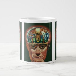 ヴィンテージの空想科学小説、実験室の外国の頭脳 ジャンボコーヒーマグカップ