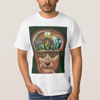 ヴィンテージの空想科学小説、実験室の外国の頭脳 Tシャツ