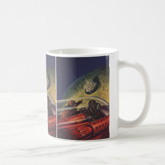 ヴィンテージの空想科学小説、月のサイファイ都市 コーヒーマグカップ