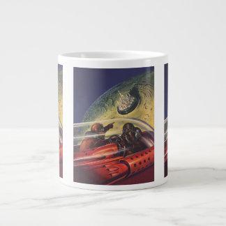ヴィンテージの空想科学小説、月の未来派都市 ジャンボコーヒーマグカップ