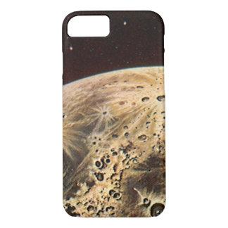 ヴィンテージの空想科学小説、月上のロケットの船 iPhone 8/7ケース