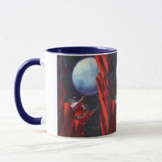 ヴィンテージの空想科学小説、渓谷の宇宙の月の粗紡機 マグカップ