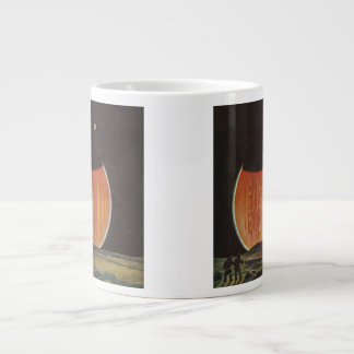 ヴィンテージの空想科学小説、Ganymedeの宇宙飛行士 ジャンボコーヒーマグカップ