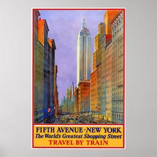 ヴィンテージの第5道のニューヨークシティ旅行ポスター ポスター