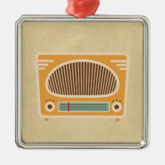 ヴィンテージの管のラジオのコレクター メタルオーナメント